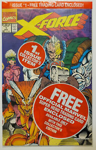 X-Force #1 1991 Marvel Negative Captain America UPC Deadpool Card FREE US Ship