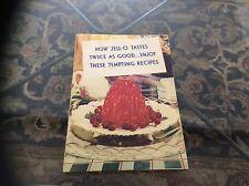 JELLO RECIPE BOOKLET, 1934