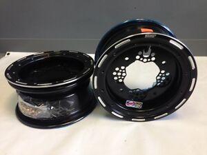 DWT ROK'N LOCK Front Black Beadlock Rims 10 10x5 4/144 3+2 Honda TRX 400EX 400X