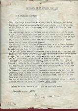 Lettera Censurata Dattiloscritta al Soldato Amerighi da Sorella Covigliaio 1940