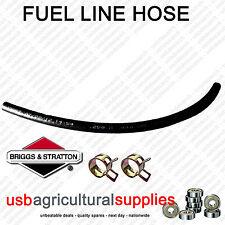 "FUEL HOSE LINE 18"" 1/4"" 6mm -11mm + 2 CLAMPS GENUINE BRIGGS & STRATTON  + CLIPS"