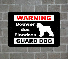 Bouvier des Flandres warning Guard Dog breed metal aluminum sign