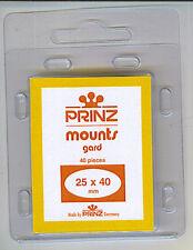 Package of 40 Prinz BLACK Mounts 25 x 40