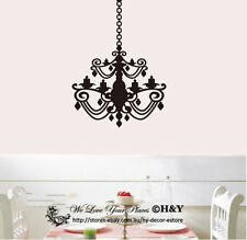 Chandelier Removable Wall Stickers Vinyl Wall Decals Art Mural Home Decor Deco
