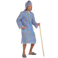 # victorien & EDWARDIAN Scrooge Chemise de nuit + casquette vieux homme costume