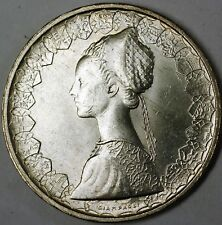 1959 Italy Silver 500 Lira Renaissance Woman and Boat BU Silver Coin