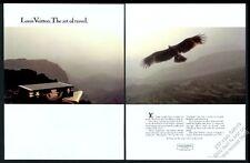 1984 Louis Vuitton attache case briefcase & eagle photo vintage print ad