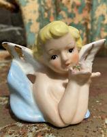 """Vintage Ceramic Angel Cherub Bust Planter 3"""""""