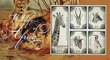 Liberia 2012 MNH Wildlife of Africa 5v M/S II Wild Animals Giraffes Deer Stamps