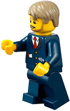LEGO Train Minifigure Driver Conductor Railway Worker Ticket Guard Station 60197