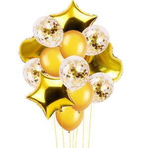 14pcs Kids Wedding Birthday Balloons Latex Foil Ballon Party Decoration Top