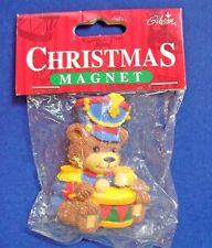 Gibson Magnet Christmas Vintage Bear Drum Major Holiday Refrigerator Fridge Mip