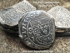 1715 Fleet TREASURE Cob 8 Reales 1ozt 999 Silver HAND STRUCK - repro. MEXICO J