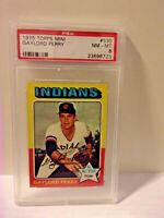 1975 TOPPS MINI GAYLORD PERRY CARD # 530 PSA 8 NM-NT