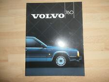 Volvo 760 1984-85 UK Market Sales Brochure GLE Turbo & TD Saloon 700-Series.MINT