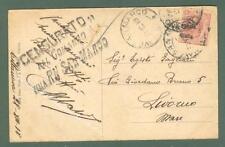 VENEZIA GIULIA - VARIETA'. Cart. 31.12.1918 spedita dalla regia Nave San Marco.