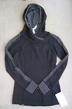 Lululemon Think Fast Hoodie Parallel Stripe Black White 4 6 8 or 10