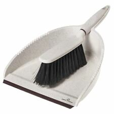 Greener Cleaner Dustpan and Brush Set 100% Recycled Plastic and Wood Pulp, Cream