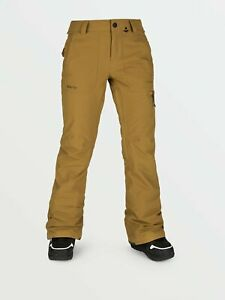 2021 NWT WOMENS VOLCOM KNOX INSULATED GORE-TEX PANTS $250 S Burnt Khaki 2 layer