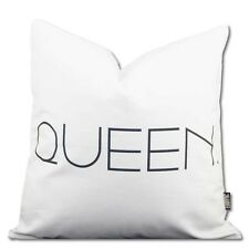 Queen Cushion Cover Black and White Cotton Home Decor 45cm