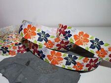 Ripsband 24mm Flowers Retro