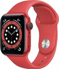 Apple Watch Series 6 GPS, 40MM SERIES RED Aluminum Case with RED Sports Band