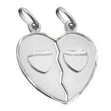 Kettenanhänger Anhänger Halskettenanhänger Doppelherz Silber 925