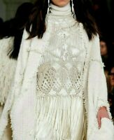 Ralph Lauren Purple Label Collection Macrame Crochet Fringe Dress Runway Top 4