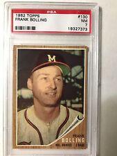 1962 TOPPS  PSA #130 FRANK BOWLING NM 7