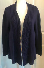 Coldwater Creek Open Purple Cardigan Sweater Plus Size 1X