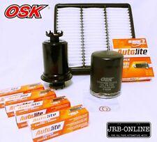 MITSUBISHI LANCER CC 4G92 1.6L OIL AIR FUEL FILTER SERVICE KIT+SPARK PLUGS 92-96