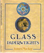 Glas Briefbeschwerer von James Mackay 1988 PB Ward Lock