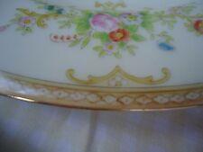 Vtg Noritake China Dinner Plate N1445 Japan Multi-color Florals Scroll Gold Trim