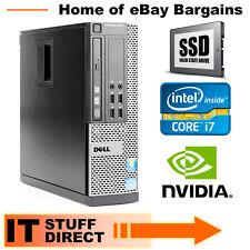 Intel i7 Gaming PC 16GB RAM 240GB SSD 2GB Nvidia Graphics GT 1030 Wi-Fi