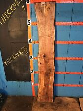 """#9801    1 5/16"""" THICK KILN DRIED spalted Maple Live Edge Slab lumber wood"""