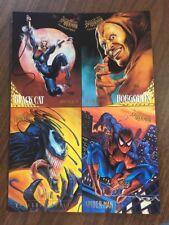 SPIDER-MAN: GOLDEN WEB 4 CARD UNCUT PROMO SHEET ~ Fleer Ultra, 1995 B10