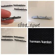 4 x Audi Mini Bmw aluminium harman kardon Speaker Logo Emblem Badge Sticker