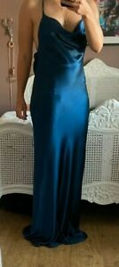 RRP £1095 BNWT Galvan Whiteley Dress in Petrol Colour, from Matches Fashion UK 8