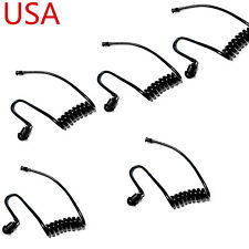 5 X Replacement Coiled Black Acoustic Audio Tube For Hawk Lapel Mic Earpiece