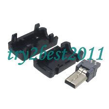 5pcs Mini USB 8 Pin Male Plug Socket Connector&Plastic Cover for DIY