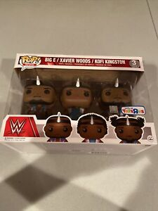 Funko Pop WWE The New Day 3 Pack Big E Kofi Xavier Woods Toys R Us Exclusive New