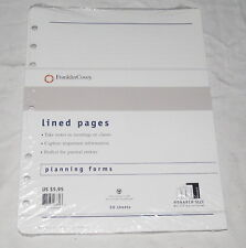 Franklin Covey Lines Pages Planning Forms Refill NEW