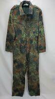 Vintage GE Kohler Camo Camouflage German Military Uniform Coveralls Flight Suit