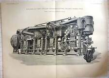 1893 Engines On The Italian Deck Protected Cruiser Marco Polo