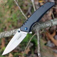 Couteau Kershaw Halogen A/O Lame Acier 8Cr13MoV Manche G10/Fibre Carbone KS1336