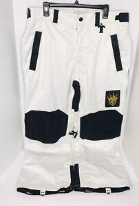 Technine Lucas Magoon Snowboard Snow Pants Black White Men's Size XL