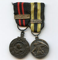 Finland WWII Miniature 2 Medals Winter War 1939 Kotijoukot Bar Civil Defence 1