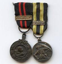 Finland WWII Miniature 2 Medals Winter War 1939 Kotijoukot Bar Civil Defence 1