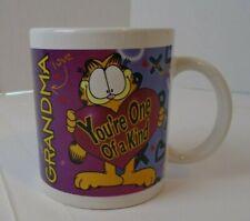 "Vintage Garfield Coffee Tea Mug cup Grandma ""Your one of a kind"""