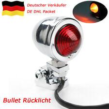 Rot Rücklicht Bullet Rücklicht für Motorrad old school Cafe Racer Retro Bobber